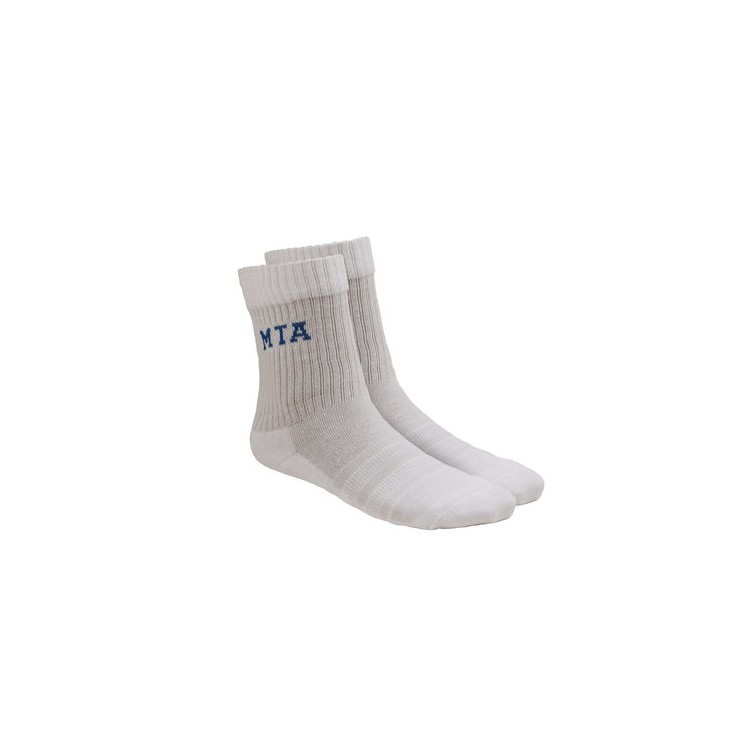 MTA White Sport Socks