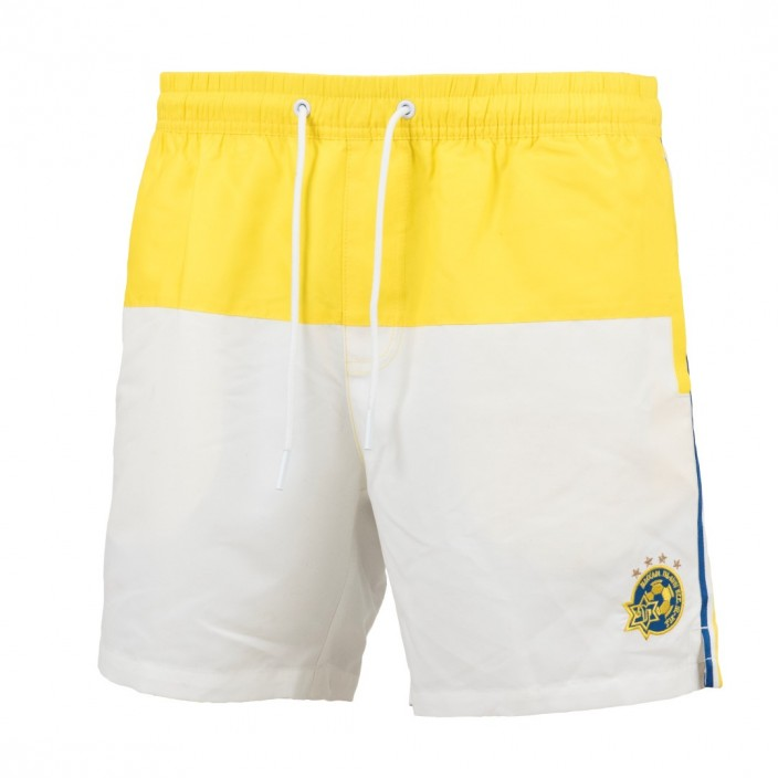 Maccabi yellow Swim Shorts With logo for kids