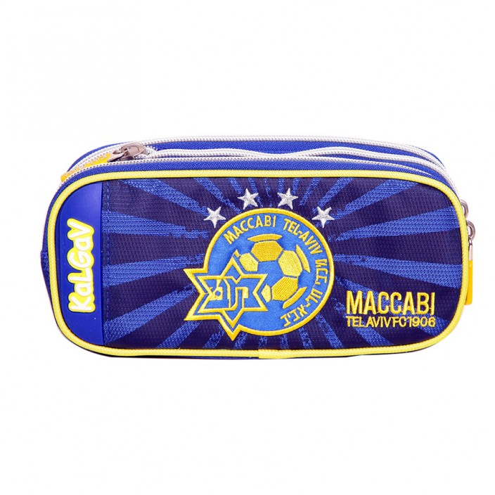 Pencil Case 2 Sections Expandable Blue Maccabi Tel Aviv