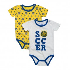 Soccer Short-sleeve Baby Jumper (pair)