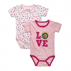 Love Short-sleeve Baby Jumper (pair)