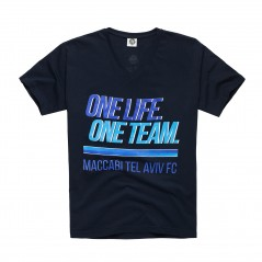 One Life, One Team T-Shirt - Navy Blue