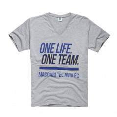 One Life, One Team T-Shirt - Gray