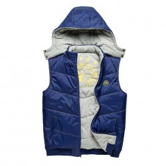 Reversible Men's Down Vest Coat