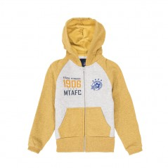 Child Yellow Hooded MTAFC Zipper Jacket