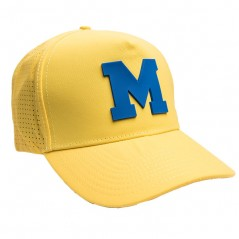 Yellow netted M cap