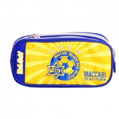 Pencil Case 2 Sections Expandable Yellow & Blue Maccabi Tel Aviv