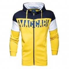 Yellow Hooded Maccabi Sweatshirt